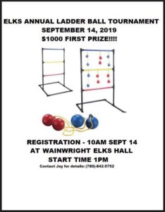 Wainwright Elks Ladder Ball Tourney @ Wainwright Elks Hall